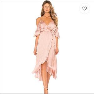 Beautiful pink Bardot wrap dress
